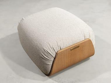 Rectangular fabric garden pouf KATHRYN   Garden pouf