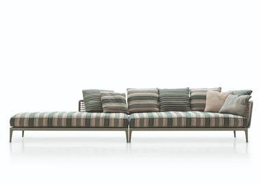 Fabric garden sofa RIBES | Garden sofa