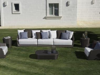Sectional synthetic fibre garden sofa MOOD | Garden sofa