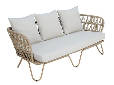 3 seater synthetic fibre garden sofa RIO | Garden sofa