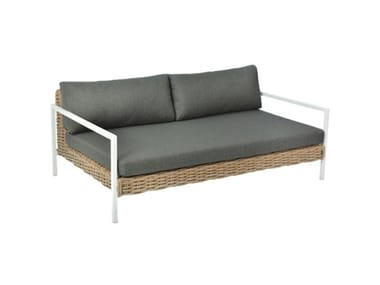 2 seater synthetic fibre garden sofa SHANA | Garden sofa