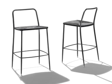 High polypropylene stool with footrest FIRST STEPS OUTDOOR | Stool