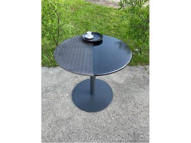 Tavolo da giardino rotondo in pietra lavica Tavolo da giardino