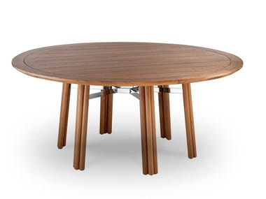 Round wooden garden table MAXIM | Round table
