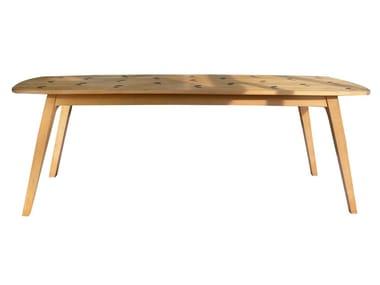 Tavolo da giardino rettangolare in teak WAVE | Tavolo da giardino
