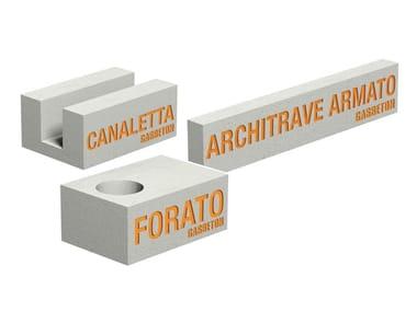 Concrete lintel GASBETON® ARCHITRAVE e BLOCCHI SPECIALI
