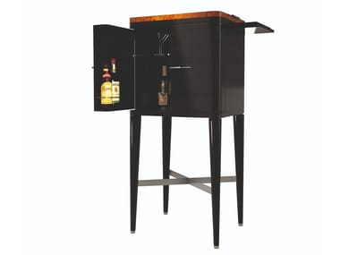 Solid wood bar cabinet with tray GATSBY | Bar cabinet