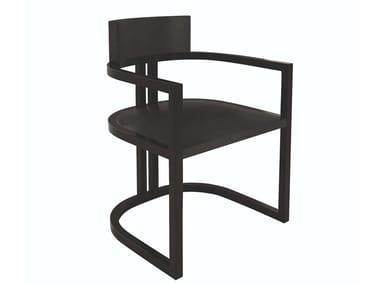 Sedia in legno massello con braccioli con schienale aperto GATSBY   Sedia con braccioli