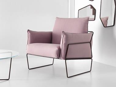 Upholstered fabric armchair GEMMA | Armchair