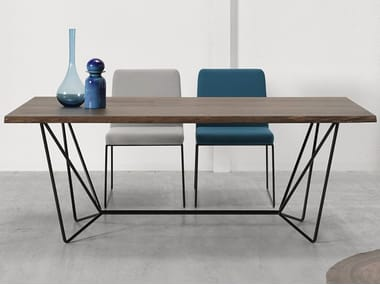 Rectangular steel and wood table GEMMA | Table