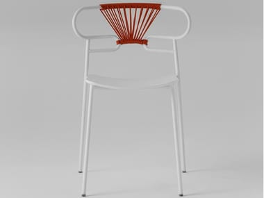 Stackable metal and beech chair GENOA | Stackable chair