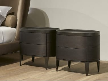 Wooden bedside table with drawers GENTLEMAN | Bedside table