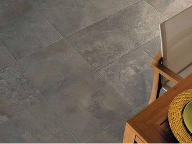Outdoor wall/floor tiles with stone effect GEO GRIS