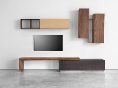 Modular wooden storage wall GEO 02   Storage wall