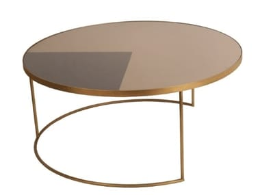 Round glass coffee table GEOMETRIC COFFEE TABLE | Round coffee table