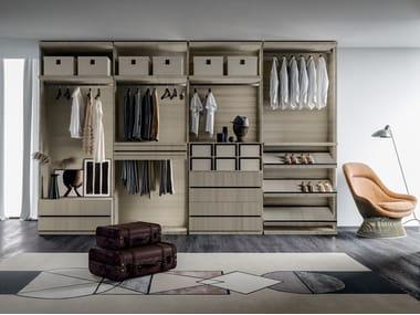 Sectional melamine-faced chipboard walk-in wardrobe GEOMETRIC 02