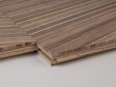 Wood veneer parquet GEOMETRIC - TILE