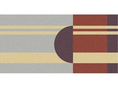 Tappeto per bagno rettangolare a motivi geometrici GEOMETRIE VOLANTI - GV43/53