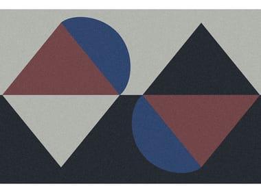 Tappeto per bagno rettangolare a motivi geometrici GEOMETRIE VOLANTI - GV131/231/331