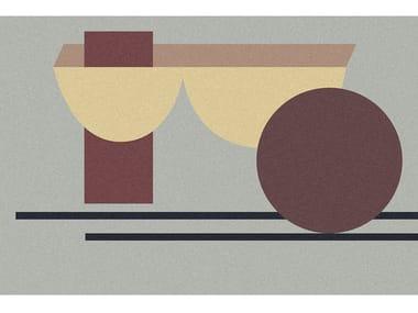 Tappeto per bagno rettangolare a motivi geometrici GEOMETRIE VOLANTI - GV132/232/332