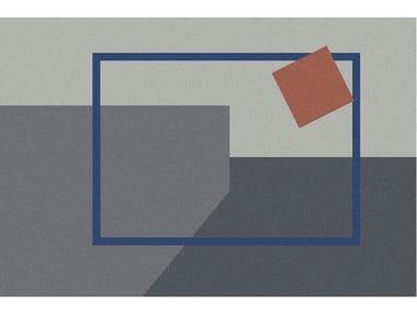 Tappeto per bagno rettangolare a motivi geometrici GEOMETRIE VOLANTI | Tappeto per bagno