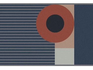 Tappeto per bagno rettangolare a motivi geometrici GEOMETRIE VOLANTI - GV136/236/336