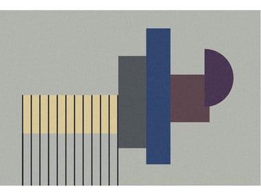 Tappeto per bagno rettangolare a motivi geometrici GEOMETRIE VOLANTI  - GV137/237/337