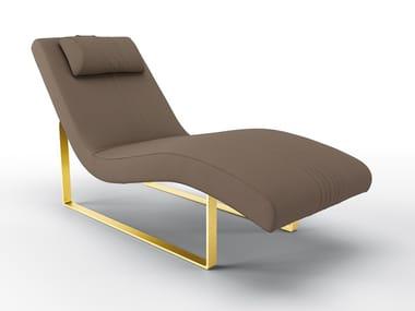 Chaise longue rembourrée en cuir GERRIT