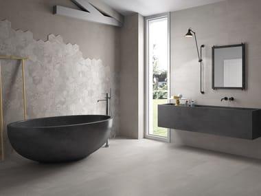 Indoor porcelain stoneware wall/floor tiles GESSO PEARL GREY