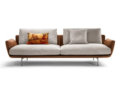 2 seater fabric and leather sofa GET BACK | 2 seater sofa