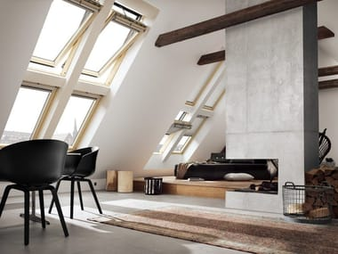 Wooden horizontally pivoted window GGL INTEGRA® SOLAR