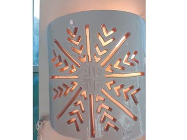 Applique a luce diretta e indiretta in ceramica GHIACCIO