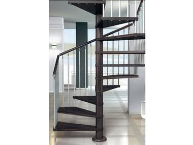 Square beech Spiral staircase GHIBLI Q