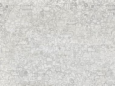 Motif rubber kids wallpaper GHIRIGORI