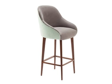 High fabric stool with back GIA | Stool with back