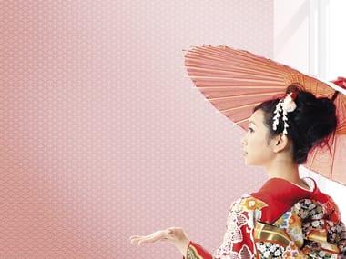 Papel de parede gomado estilo japonês com motivos GIAPPO VENTAGLIO