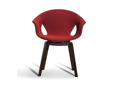 Fabric chair with armrests GINGER | Fabric chair