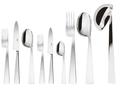75 pieces stainless steel cutlery set GIO PONTI CONCA 75 pcs