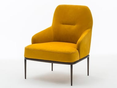 Leather armchair with armrests GIOIA