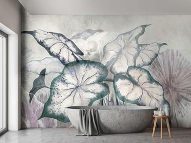 Papel de parede ecológico lavável livre de PVC GIVERNY