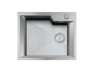 Single flush-mounted stainless steel sink GK 450X400 H.195 FT INOX