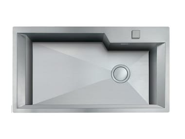 Single flush-mounted stainless steel sink GK 730X400 H.235 FT INOX