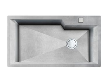 Single flush-mounted stainless steel sink GK 730X400 H.235 FT VINTAGE