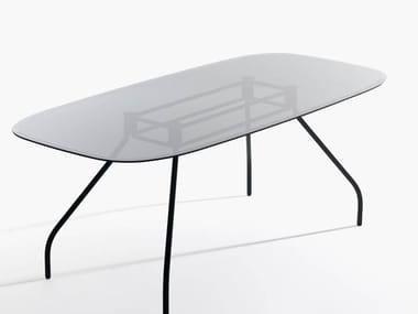 Glass office desk / meeting table SEMPIONE | Glass office desk