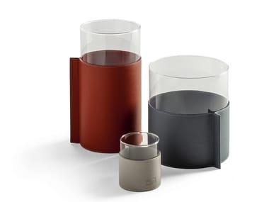 Glass vase GLI OGGETTI - LEATHER POT