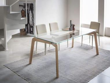 SHANGAI | Tavolo in legno e vetro Collezione SHANGAI By RIFLESSI