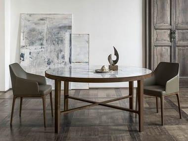 Tavolo rotondo in marmo con Lazy Susan GLOBE