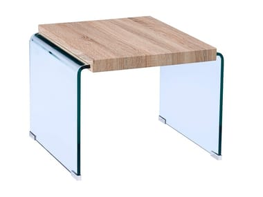 Wood and glass coffee table GM-003 | Coffee table