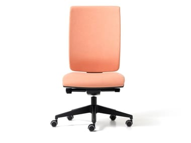 Fabric office chair with 5-Spoke base with castors GOAL | Office chair