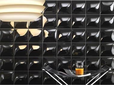 White-paste 3D Wall Cladding GOCCIA BLACK